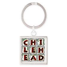 Chilehead Square Keychain