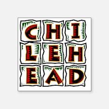 """Chilehead Square Sticker 3"""" x 3"""""""