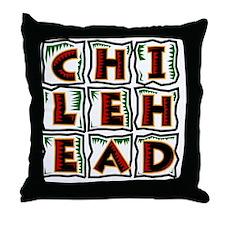 Chilehead Throw Pillow