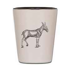 Mule Donkey Vintage Shot Glass