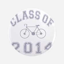"CO2014 Bike Grey Distressed 3.5"" Button"