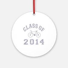 CO2014 Bike Grey Distressed Round Ornament