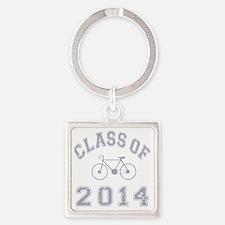 CO2014 Bike Grey Distressed Square Keychain