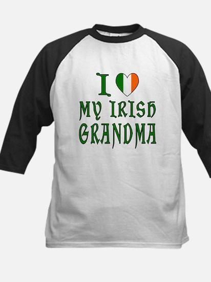 I Love My Irish Grandma Kids Baseball Jersey