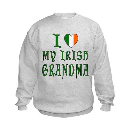 I Love My Irish Grandma Kids Sweatshirt