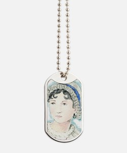 Jane Austen Painting Dog Tags
