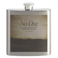 Consent Quote on Tile Coaster, Framed Tile,  Flask