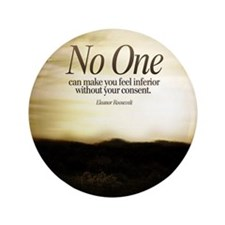 """Consent Quote on Tile Coaster, Framed  3.5"""" Button"""