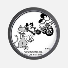 3054_pet_cartoon Wall Clock