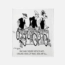 4826_bike_cartoon Throw Blanket