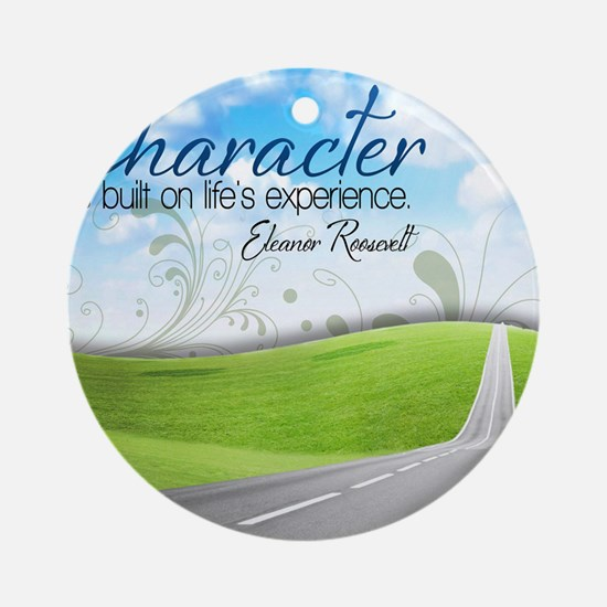 Character Quote on Tile Coaster, Ke Round Ornament