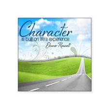 "Character Quote on Tile Coa Square Sticker 3"" x 3"""