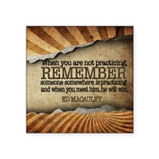 """Practising Quote on Tile Co Square Sticker 3"""" x 3"""""""