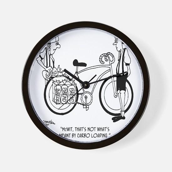 4231_bike_cartoon Wall Clock