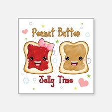 "pbj Square Sticker 3"" x 3"""