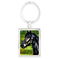 horse painting Portrait Keychain