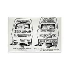 Ambulance Cartoon.gif Rectangle Magnet