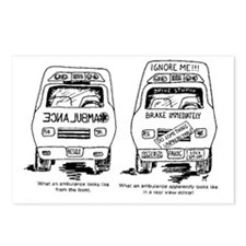 Ambulance Cartoon.gif Postcards (Package of 8)