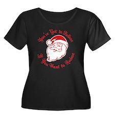 Santa Be Women's Plus Size Dark Scoop Neck T-Shirt