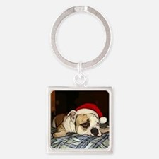 Christmas Greeting Square Keychain