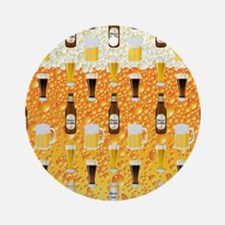 Beer Flip Flops Round Ornament