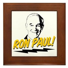 Ron-Paul-Circle Framed Tile