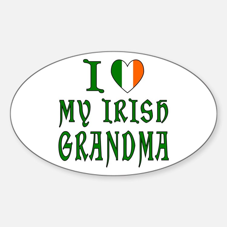 I Love My Irish Grandma Oval Decal