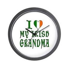 I Love My Irish Grandma Wall Clock