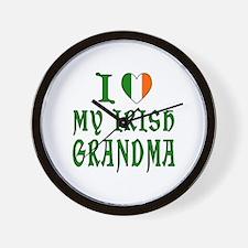 I Love My Irish Grandma Wall Clock