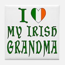 I Love My Irish Grandma Tile Coaster