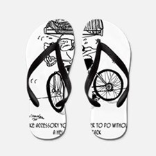 1705_bike_cartoon Flip Flops