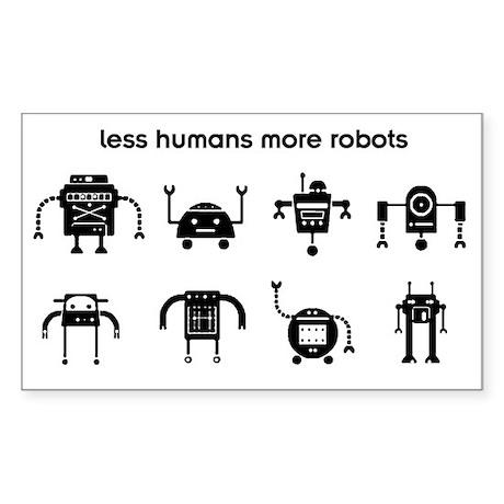 lesshumans Sticker (Rectangle)