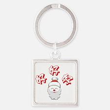 Ho Ho Ho! Square Keychain