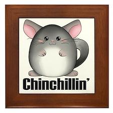 chinchillin3 Framed Tile
