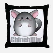 chinchillin2 Throw Pillow