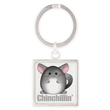 chinchillin2 Square Keychain