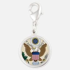 USA SEAL Silver Round Charm