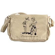 1704_bike_cartoon Messenger Bag