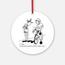1704_bike_cartoon Round Ornament
