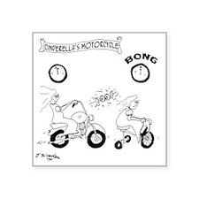 "6997_motorcycle_cartoon Square Sticker 3"" x 3"""