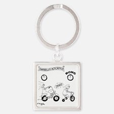 6997_motorcycle_cartoon Square Keychain