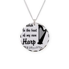 MarchHarp Necklace Circle Charm