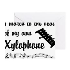 MarchXylophone Greeting Card