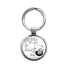 5441_truck_cartoon Round Keychain