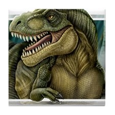 trex2_notext Tile Coaster