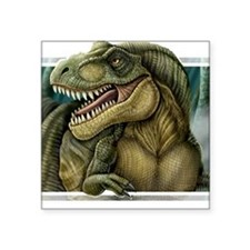 "trex2_notext Square Sticker 3"" x 3"""