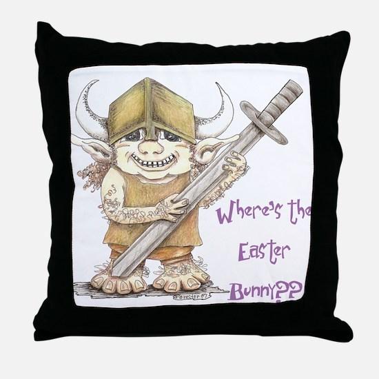 Easter Troll Throw Pillow