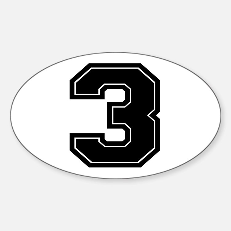 3 Oval Decal