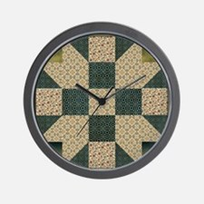 Patch Star Gold and Green copy Wall Clock