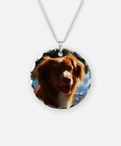maggie tshirt Necklace Circle Charm